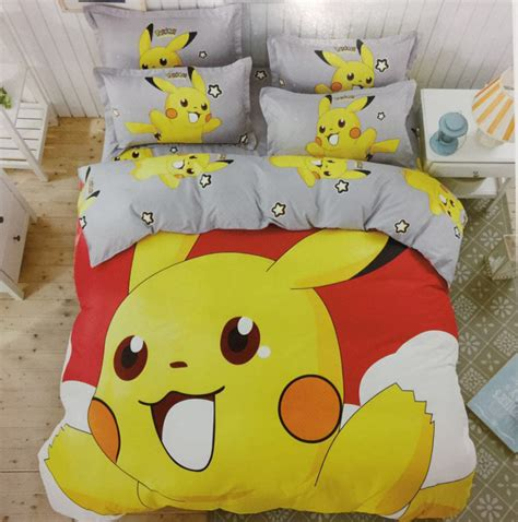 pikachu bed cute pikachu bedding set pokemon minions hello kitty 3