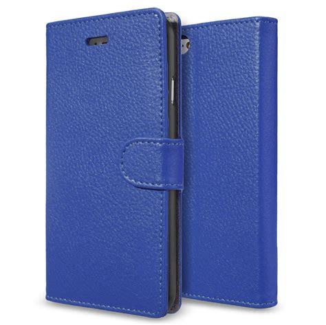 Iphone 6 6s Caseme Leather Wallet Card Flip Cover leather wallet card holder for apple iphone 6s blue