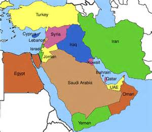 Map Of Middle East by Near East Middle East