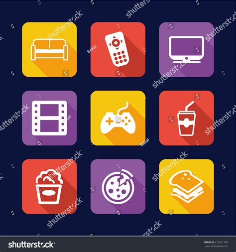 couch potato icon couch potato icons flat design stock vector 413241109