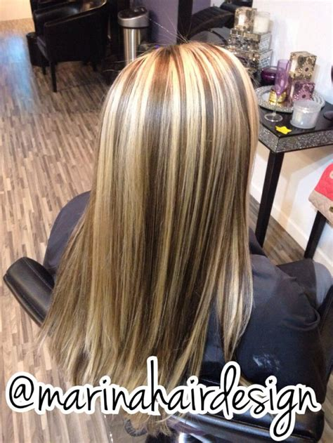 chunky high and lowlights highlights pictures chunky blonde highlights brown lowlights hair ideas