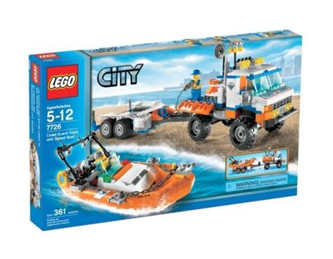 lego boat and truck lego city set 7726 coast guard truck with speed boat