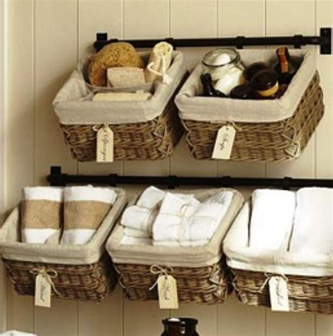 10 Practical Bathroom Basket Organizers Rilane Bathroom Storage Baskets Shelves
