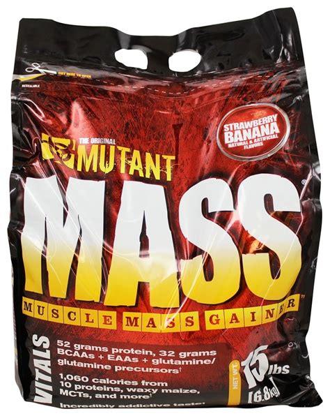 Mutant Mass 15 Lbs Gainer buy mutant mass mass gainer strawberry banana