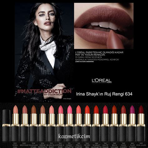 L Oreal Color Riche Matte l or 233 al color riche matte addiction lipstick kozmetikcim