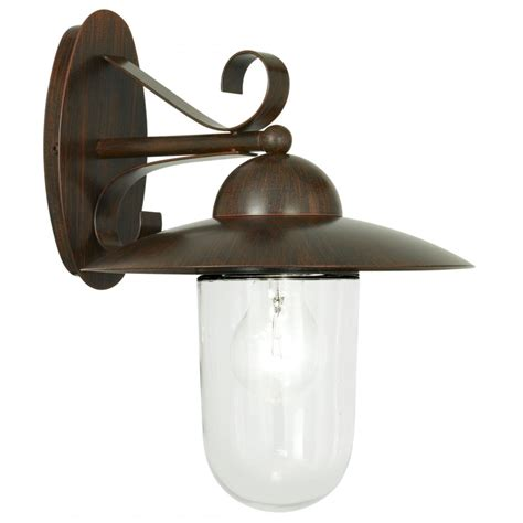 antique outdoor lighting eglo lighting milton brown antique outdoor wall light