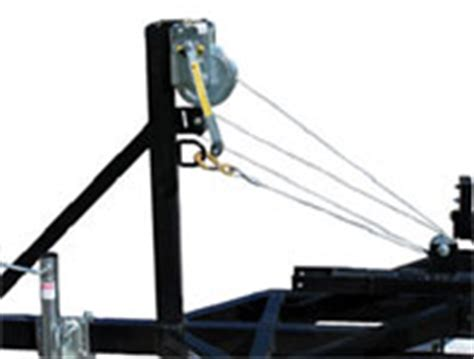 on a boat pulleys are used to raise and lower pontoon trailers 101 center lift pontoon trailers page 2