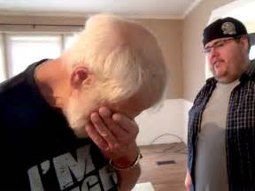 angry grandpa new house son buys angry grandpa new house video people com