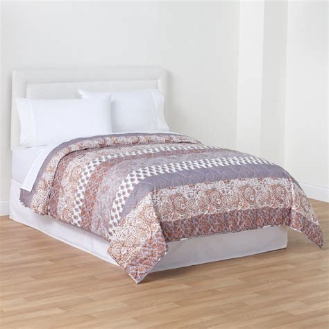 paisley quilts and coverlets essential home floral paisley quilt home bed bath