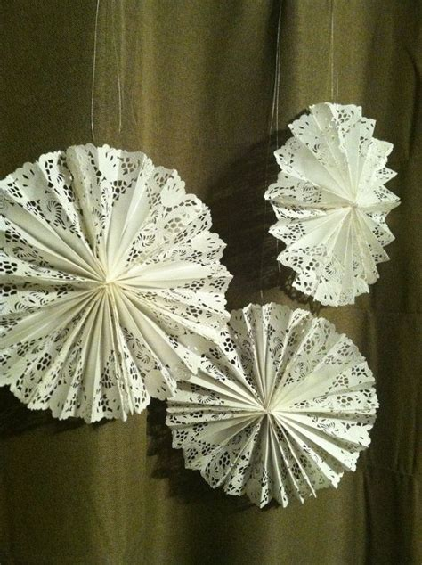 paper doiley crafts paper doily fans by