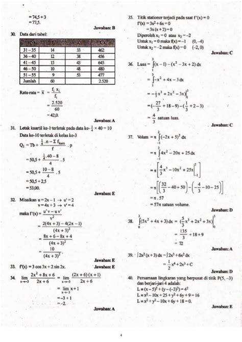 Buku Smk Tehnologi Kesehatan Pertanian Matematika Erlangga kunci jawaban soal un smk 2013 matematika tkp