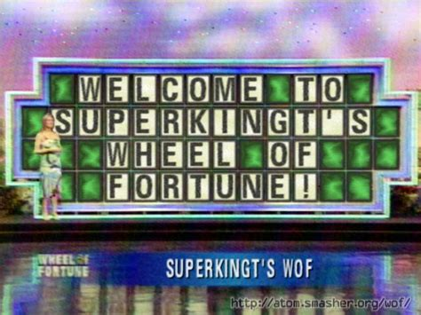 Word Puzzle Welcome To Superkingt S Wheel Of Fortune Wheel Of Fortune Make Your Own