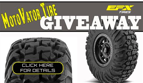 Tire Giveaway - side by side stuff