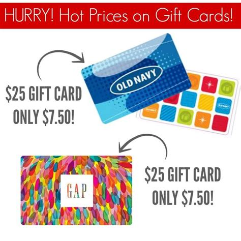 Old Navy Gap Gift Card - 25 old navy gift card only 7 50 stack with black friday sales