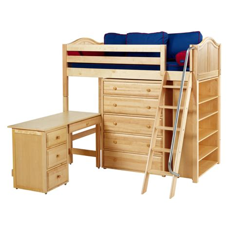 high loft bed emperor twin high loft bed with bookcase and desk