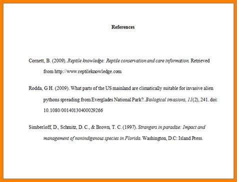How To Write A Reference Page For A Resume by 6 Reference Page In Apa Format Of Notice