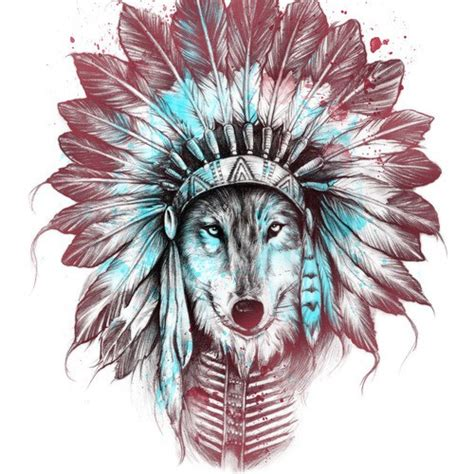 chief wolf wood print javi artists