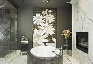 bathroom ideas with white flower wallpaper decolover net