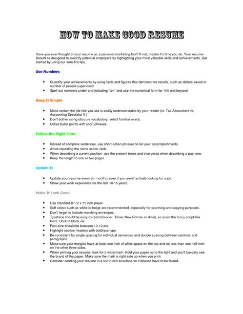 how to write the resume for a how to make a resume fotolip rich image and wallpaper