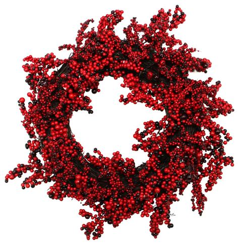 22 quot decorative artificial burgundy red berry christmas