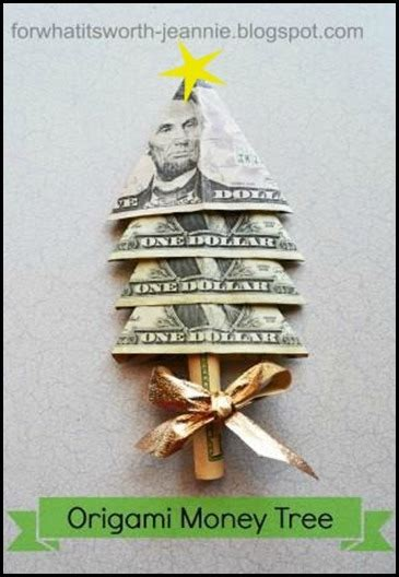 origami money christmas money tree origami for what it s worth