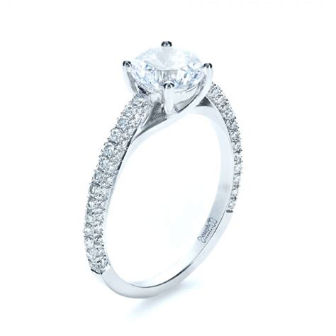 Micro Pave Engagement Rings by Six Prong Engagement Ring 1382