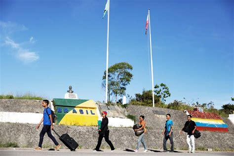 imagenes brasil venezuela boa vista brasil cerca de una crisis humanitaria ante