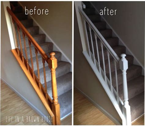 Painted Banister Ideas by Best 25 Banister Remodel Ideas On Staircase