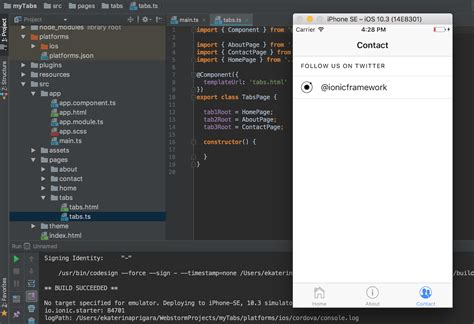 ionic serve tutorial developing ionic apps in webstorm webstorm blog