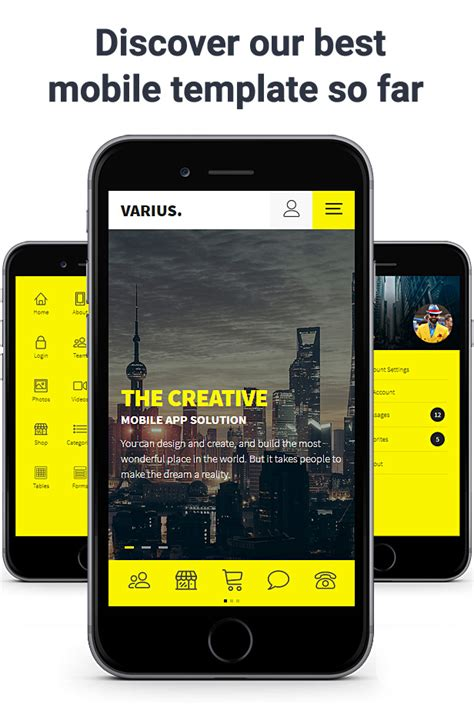 Varius Mobile And Tablet Creative Template By Sindevo | varius mobile and tablet creative template by sindevo