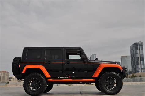 jeep wrangler 4 door orange 2008 jeep wrangler custom 4 door suv 133793