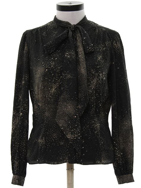 Felicia Instan Black Ch120812 felicia viti 70 s vintage shirt 70s felicia viti womens black and background silky