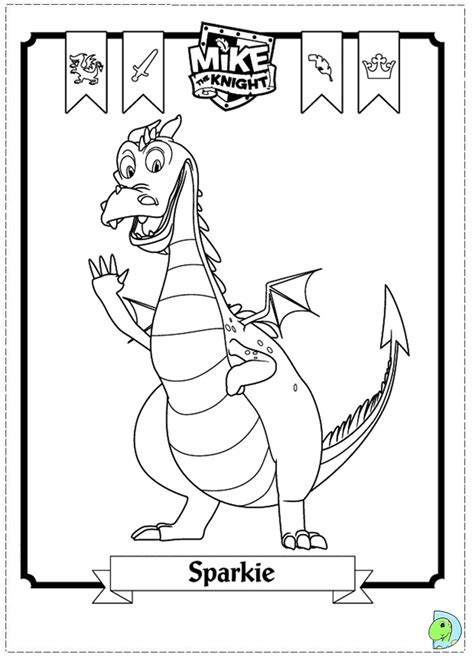 free coloring pages of mike the knight