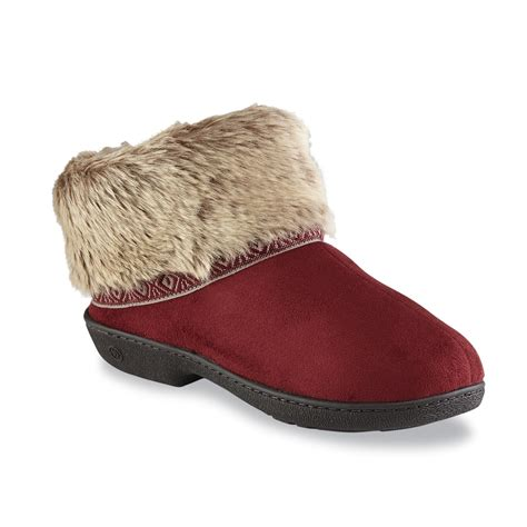 sears slippers for isotoner women s woodlands bootie slipper sears