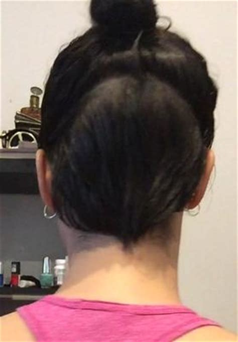 best haircut nape of neck grows up growing out nape undercut and fringe help