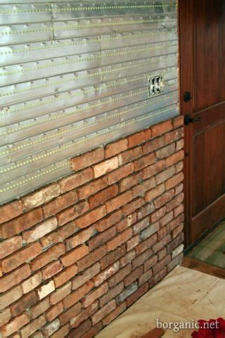 fake exposed brick wall faux exposed brick wall idea ive always wanted to do