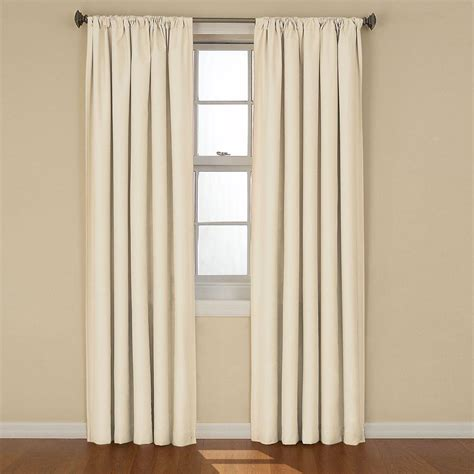 ivory drapes eclipse kendall blackout ivory curtain panel 84 in