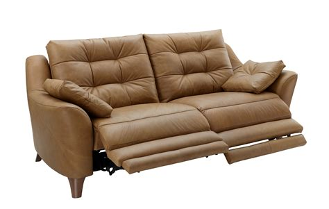 G Plan Pip Leather 3 Seater Electric Recliner Sofa Tr Reclinable Sofas