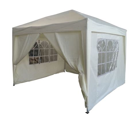 Canopy With Sides 3m X 3m Pop Up Gazebo Waterproof Canopy Awning Marquee