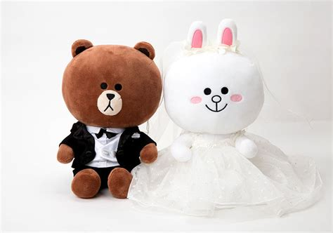 Line Official Merchandise Season 4 Brown Plush Doll 28cm korea line friends brown cony wedding 25cm plush doll mascot gift limited set ebay