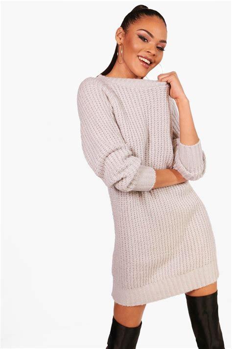 jumper dress boohoo womens soft knit jumper dress ebay