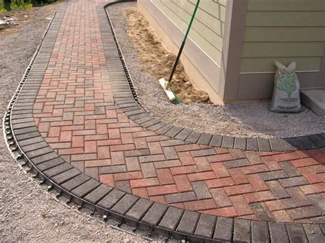 Paver Patio Edging Options Paver Walkway Outdoor Living Spaces Paver Walkway Walkways And