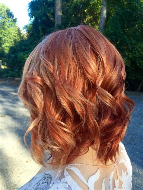 hairstyles with red highlights pictures red hair with blonde highlights hair color pinterest