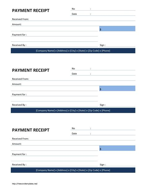 proof of payment receipt template payment receipt template