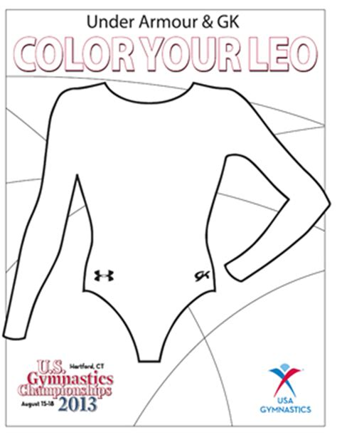 Under Armour And Gk Color Your Leo Contest Women Talk Sports Leotard Template Design