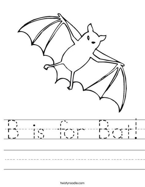 preschool bat coloring page b is for bat worksheet twisty noodle