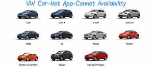 At T Connected Car Models Vw Vehicle Models Vw Car Net App Connect Is Available On