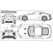 Lexus LFA Model Car Color2