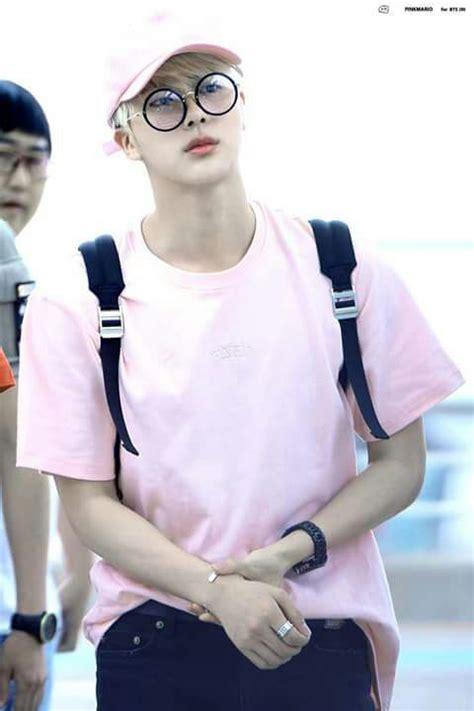 Hoodie Jumper Bts Kpopcustom Ml jin wearing glasses army s amino