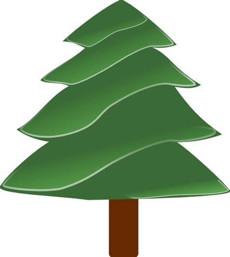 Evergreen Tree Clip by Simple Evergreen With Highlights Clip Free Vector